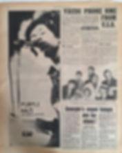 jimi hendrix newspaper 1967/ purple haze AD