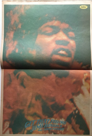 jimi hendrix newspaper/go  15/1/1967 poster