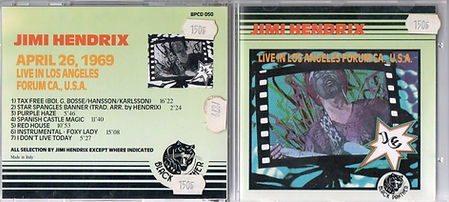 jimi hedri cd bootleg 1969/jimi hendrix april 26 1969 /black panther 1989
