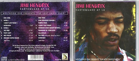 jimi henrix cd bootlegs 1969/earthquake at l.a