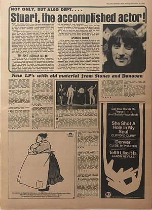 jimi hendrix newspapers 1969 / record mirror september 20 1969