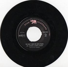 jimi hendrix vinyls singles/you don't want me/pink elephant