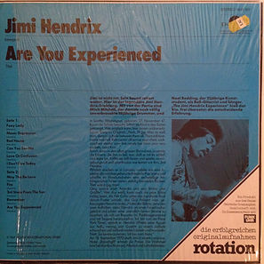jimi hendrix collector rotily vinyls/ are you experienced 1976 germany