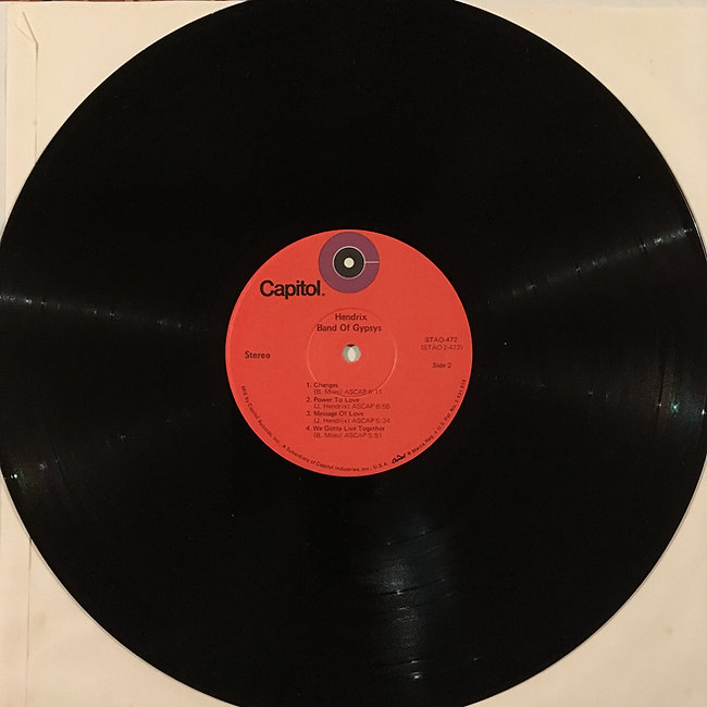 jimi hendrix collector vinyls/ band of gypsys 3rd edition usa  1973