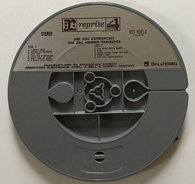 jimi hendrix reel to reel / are you experienced 4track bell & howell company 1968