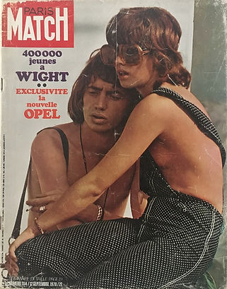 jimi hendrix magazines 1970 /paris match  september 12, 1970