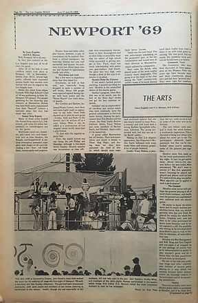 jimi hendrix newspapers 1969/the image june 27 1969 newport'69 /part 1