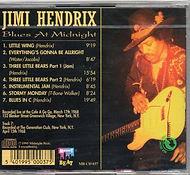 jimi hendrix cd bootlegs/blues at midnight beat mb cd 037