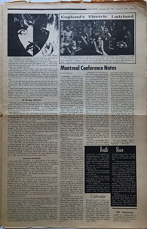 jimi hendrix collector newspaper 1969/kaliedoscope december/january 2 1969