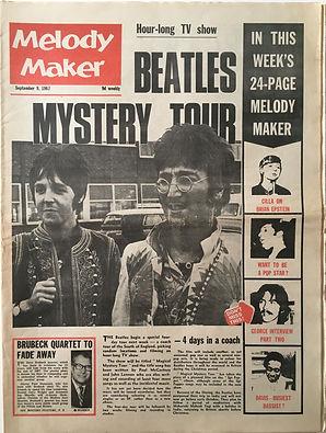 jimi hendrix collector newspapers/melody maker 9/9/1967/ magnificent sevent/...jimi hendrix