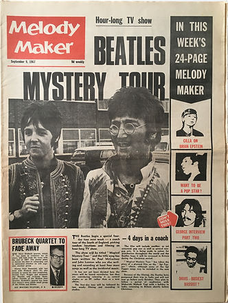 jimi hendrix collector newspapers/melody maker 9/9/1967/ magnificent sevent/...jimi hendrix
