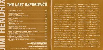 jimi hendrix cd album/ the last experience /  1994 japan