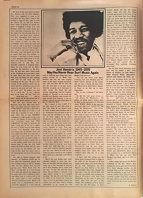 jimi hendrix newspapers: creem  October 1970