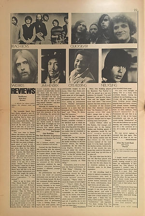 jimi hendrix newspapers 1970 / rock :  october 11  1970 / review otis & jimi