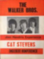 jimi hendrix memorabilia collector/1967 april first program tour