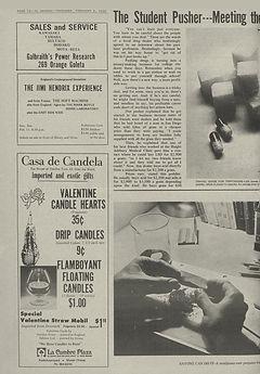 jimi hendrix newspaper/el gaucho  feb. 8, 1968