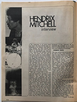 jimi hendrix magazine 1968/hendrix/mitchell interview :scene november 1968