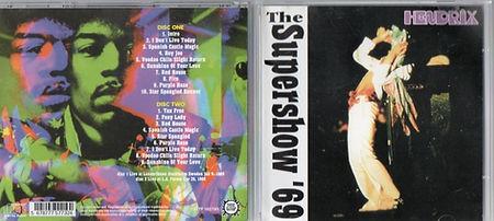 jimi hendrix cd bootlegs 1969/the supershow ' 69