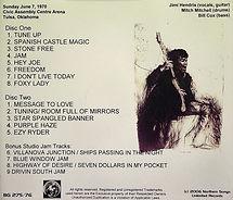 jimi hendrix bootlegs cd / tulsa oklahoma