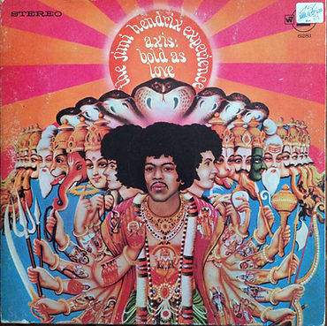 jimi hendrix collector rotily vinyls lps/axis bold as love usa stereo 1968