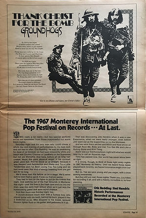 jimi hendrix newspapers 1970 / zygote  october 30,  1970 / ad : jimi & otis