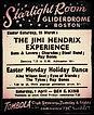 jimi hendrix memorabilia 1967 / ad concert march 25 , 1967