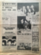 jimi hendrix newspaper/go march 29 1968/ad concert: symphony hall newark N.J april 5/1968
