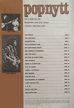 jimi hendrix magazines 1968 norway / popnytt feb.  1968