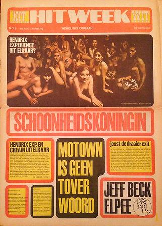 jimi hendrix rotily newspapers collector/hit week 1968