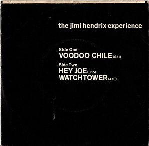 jimi hendrix collector/vin yls EP maxi single/voodoo chile/hey joe/watchtower 1970