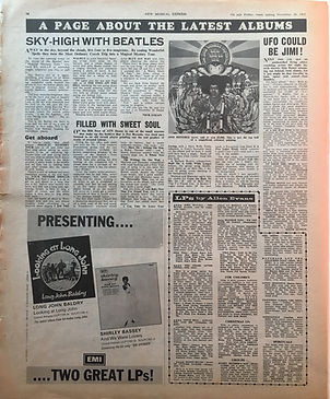 ufo could be jimi ! /new musical express 25/11/1967 jimi hendrix collector newspaper