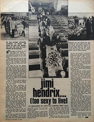 jimi hendrix collector /pix   Nov. 14,1970  / secret sex life
