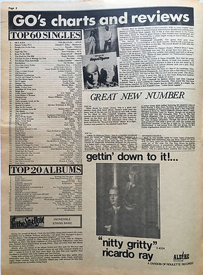 jimi hendrix newspaper/go /27/9/68  top 20 albums