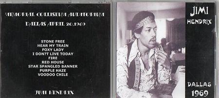 jimi hendrix cd bootlegs 1969/dallas 1969 april 20