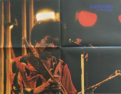 jimi hendrix magazines 1970 death/ popfoto november 70 1970 / poster