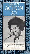jimi hendrix memorabilia 1970 / flyer concert august 1,1970