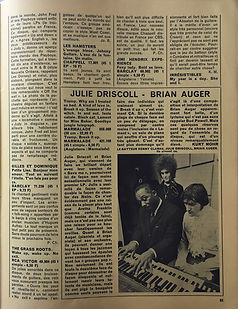 jimi hendrix magazine /rock & folk april 1968
