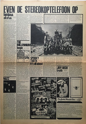jimi hendrix newspaper 1968/ hit week  november 15  1968