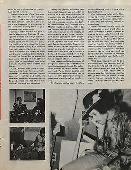 jimi hendrix collector magazine/discoscene & wapescene april 1968