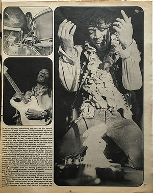 jimi hendrix magazine 1969/  petticoat march 1969