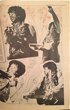jimi hendrix collector memorabilia/go set newspapers 23/8/67