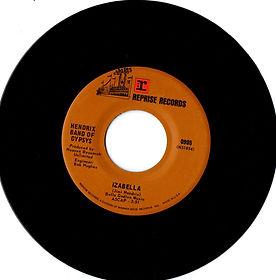 jimi hendrix band of gypsys collector singles vinyls/izabella reprise records 1970 hendrix band of gypsys