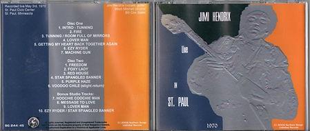 jimi hendrix bootlegs cds 1970 / jimi hendrix live in st paul 1970 2cd