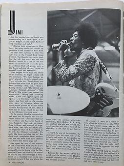 jimi hendrix magazine/hullabaloo september 1968