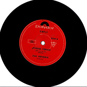 jimi hendrix collector singles 45t vinyls/ can you see me (puedes verme?) argentina 1969