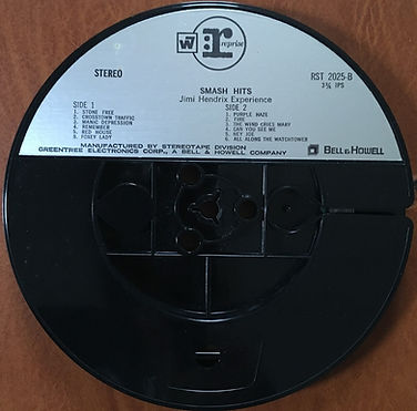 jimi hendrix reel to reel /smash hits reprise 4track