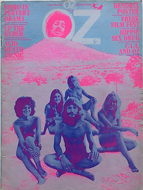 jimi hendrix magazines 1970 death/ oz : october 1970