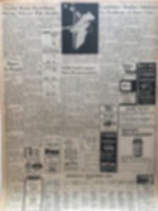jimi hendrix newspaper/morning advocate july 30 1968/concert AD
