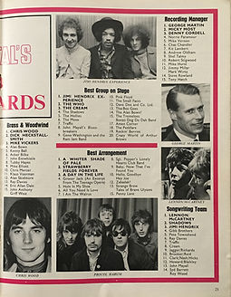 jimi hendrix magazine/1967 gold star awards/beat instrumental february 1968