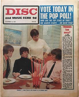 jimi hendrixcollctor newspaper/disc music echo 18/11/1967